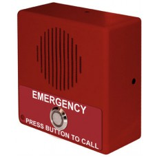 Single Button VoIP Emergency Intercom PoE Powered with Red Housing
