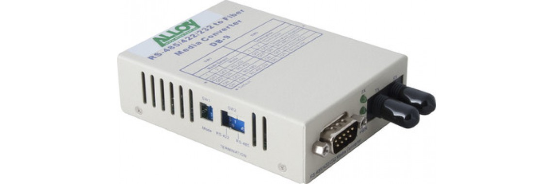 Serial to Fibre Standalone/Rack Converter RS-232/422/485 DB-9 to