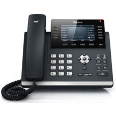 16 Line IP phone, 4.3'' 480x272 pixel colour display with backlight, Dual Gigabit Ports, 10 Program keys/BLF/XML/HDV,1 USB port for BT40/WF40/Recording, Opus Support  (Power Adapter Optional)