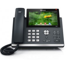 16 Line IP phone, 7'' 800x480 pixel colour touch screen, Optima HD voice, Dual Gigabit Ports, 1 USB port for BT40/WF40/Recording, Opus Support (Power Adapter Optional)